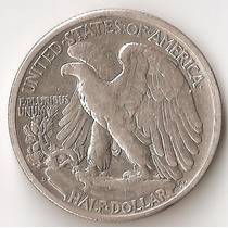 Estados Unidos, 1/2 Dollar, 1942 D. Plata. Il Guerra. Vf