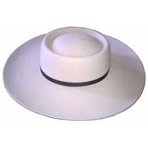 Sombrero De Gaucho Vellon De Oveja Ala 10 Copa O 53/61cm