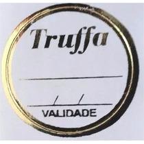 500 Etiquetas Adesivas Para Trufas Douradas