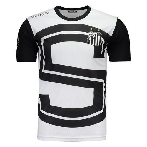 Camisa Kappa Santos Aquecimento 2017 - R  129 4eabab56bb63a