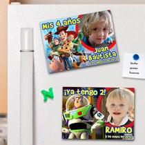 Toy Story Souvenirs Cumpleaños 10 Imanes Con Foto Lindisimos