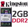 Memorias Sodimm Kingston Ddr2 2gb 800mhz Pc2-6400 Garantia!