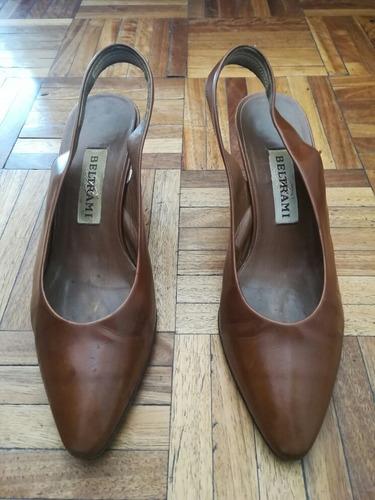 bb016d2079a zapatos mujer beltrami italiano cuero 38 taco madera 6cm. Cargando zoom.
