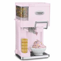 Maquina Para Hacer Helados Nieve Yogurt Cuisineart Rosa Ice