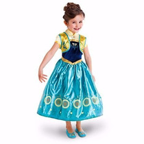 Vestido Fantsia Frozen Fever Pronta Entrega 3 A 10 Anos