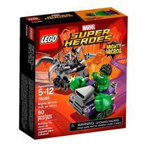 Brinquedo Lego Marvel Super Heroes Micros Hulk Ultron 76066