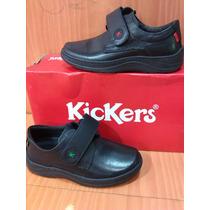 Zapatos Escolares Kickers Originales Niños