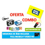 Reproductor Mp3+memoria 8gb Full Music Y Video Hd+lector Usb
