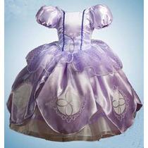 Vestido Princesa Sofía Con Corona.amuleto.zapatos.crinolina
