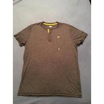 Camiseta Hollister Colecao Nova 3 Botoes Tam G Original