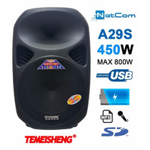 Corneta Amplificada Temeisheng A29s 450w Mic Usb Sd Mic Bat