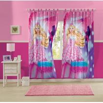 Cortina Infantil Estampada Barbie 3,00m X 2,20m Lepper