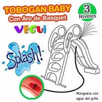 Tobogan Junior Con Aro De Basquet