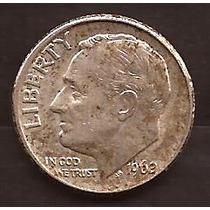 Moneda De Plata 1962 Estados Unidos 1 Dime Usada