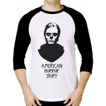 Camiseta Raglan 3/4 - American Horror Story - A Melhor Do Ml