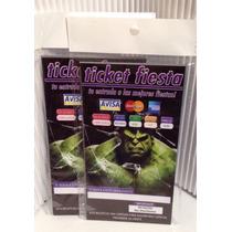 Aa Hulk 100 Invitaciones Tipo Ticket Master Promocion Fiesta