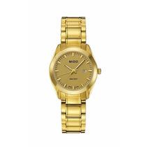 Reloj Mido M0122103302100 Dama Dorado Original Envío Rapido