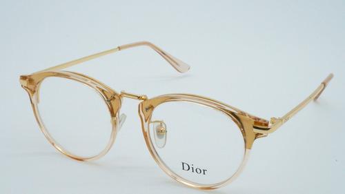 e2b8382031706 Armacao Feminina Oculos Grau Dior Redondo Transparente 5803 - R  120 ...
