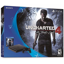 Playstation 4 Slim Sony 500gb Ps4 + Uncharted 4 Com Nf