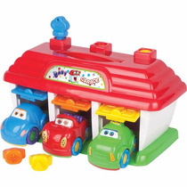 Brinquedo Para Bebê Baby Garage Com 3 Carrinhos Big Star