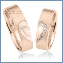 Argollas De Matrimonio Mod. Hope En Oro Rosa 10k Solido
