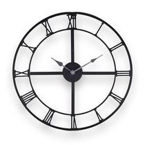 Relógio Vazado Com Números Romanos Marrom Em Metal