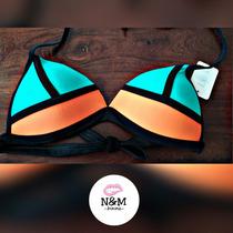 Bikini Lourdes Farrel Mallas Traje Baño Dos Piezas Neoprene