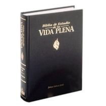 Libro Biblia De Estudio Vida Plena, Dura, Negro, Andice