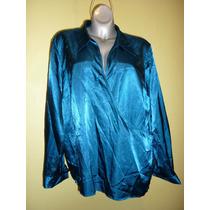 Blusa Marca Venezia Jeans Color Azul Extra Grande 26 / 28