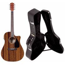 Violão Aço Fender Com Case Elétrico Afinador Cd-60 Ce