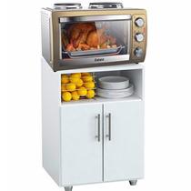 Combo Mueble Mesa De Cocina Rack + Horno Electrico C/anafe