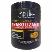3d Line Anabolizante Capilar Creme De Hidratação 1kg