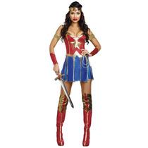 Disfraz Mujer Maravilla Sexy. Halloween. Fiesta Tematica.