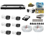 Kit 6 Cameras Hdcvi 1010 Infra Dvr 8 Canais Intelbras Tribid