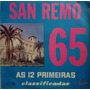 Lp Disco De Vinil San Remo 65 As 12 Primeiras Classificadas