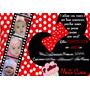 50 Convite De Aniversário 10x15 Minnie Com Foto 48horas