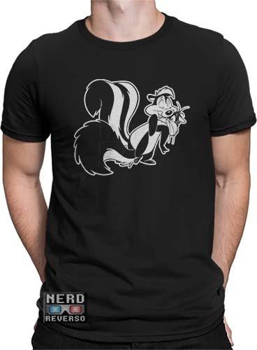 c49c5966c Camisetas Pepé Le Pew Gambá Penélope Looney Tunes Desenhos - R  34 ...