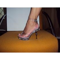 Sandalias Em Pueretano Com Tiras No Tornozelo Transparent