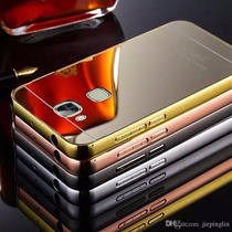 Bumper Mirror Case + Cristal 9h Huawei G8 Gx8 Espejo Funda