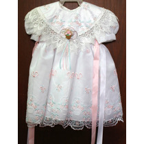 Vestido Organza Para Bautizo Tallas 1 A 3 Años