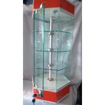 Aparador Hexegonal De Mostrador Exhibidor Vitrinas Cristal