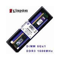 Memoria Kingston 8gb 1600mhz Ddr3 Kvr16n11/8 Para Desktop
