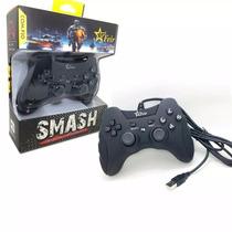 Controle Ps3 E Pc Com Fio Ps3 Dualshock Playstation 3 Preto
