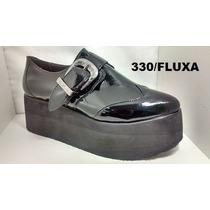 Zapatos Cerrados Cuero Con Plataforma Charol Fluxa 330 Ofert
