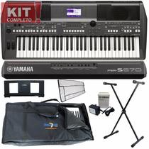 Kit Teclado Arranjador 61 Teclas Psr-s670 Yamaha Subs S650
