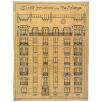 Lienzo Tela Dibujo Arquitectura Fachada Real Sociedad Art