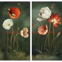 Cuadros Decorativos Modernos De Flores Pintados A Mano