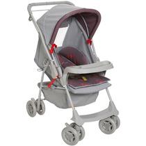 Carrinho De Bebê Milano Reversivel Vermelho Galzerano