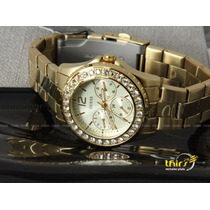 Relogio Guess Feminino Original U12005 Cristais - 36 Mm Lind