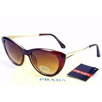 Óculos De Sol Pr. Máscara Brown Dourado